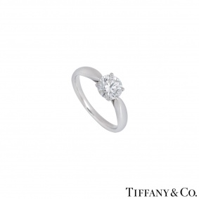 Tiffany & Co. Platinum Diamond Harmony Ring 0.91ct G/VS2